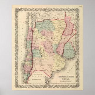 アルゼンチン共和国、唐辛子、ウルグアイおよびパラグアイ ポスター