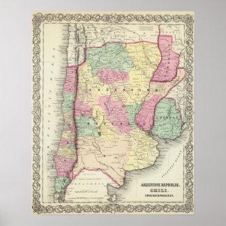 アルゼンチン共和国、唐辛子、ウルグアイ及びパラグアイ ポスター