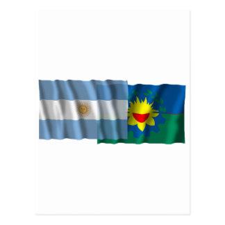 アルゼンチン及びブエノスアイレスの振る旗 ポストカード