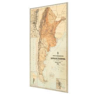 アルゼンチン(1882年)のヴィンテージの地図 キャンバスプリント