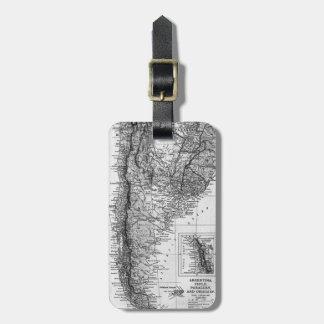 アルゼンチン(1911年)のヴィンテージの地図 ラゲッジタグ