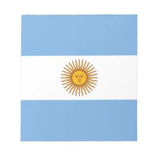 アルゼンチン- Bandera deアルゼンチンの旗 ノートパッド