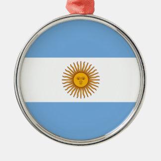 アルゼンチン- Bandera deアルゼンチンの旗 メタルオーナメント