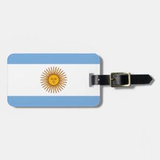 アルゼンチン- Bandera deアルゼンチンの旗 ラゲッジタグ