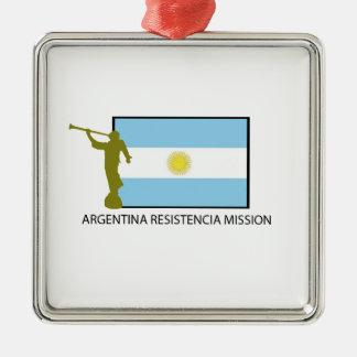 アルゼンチンRESISTENCIAの代表団LDS メタルオーナメント