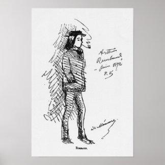 アルチュール・ランボー1872年6月 ポスター