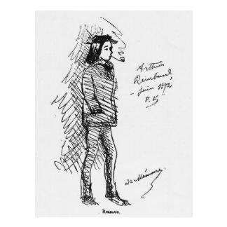 アルチュール・ランボー1872年6月 ポストカード