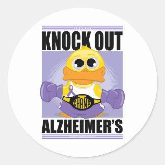 アルツハイマー病をノックアウトして下さい ラウンドシール