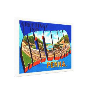アルトゥーナペンシルバニアPAのヴィンテージ旅行記念品 キャンバスプリント