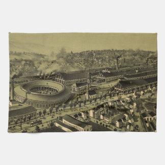 アルトゥーナPA (1895年)のヴィンテージの絵解き地図 キッチンタオル