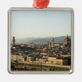アルノの川、大教会堂、Ponteが付いているフィレンツェの眺め メタルオーナメント