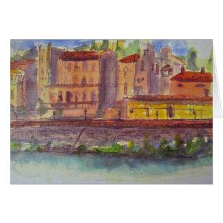 アルノ、フィレンツェを渡る眺め カード