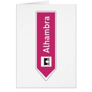 アルハンブラの交通標識、グラナダ、スペイン カード