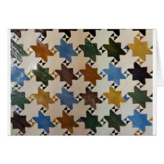 アルハンブラの壁のタイル#5 カード