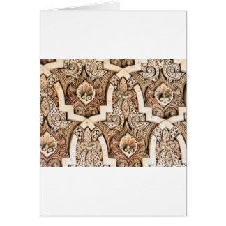 アルハンブラの壁のタイル#7 カード