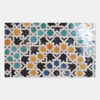 アルハンブラの壁のタイル#9 長方形シール