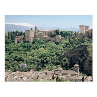 アルハンブラの宮殿の眺め ポストカード