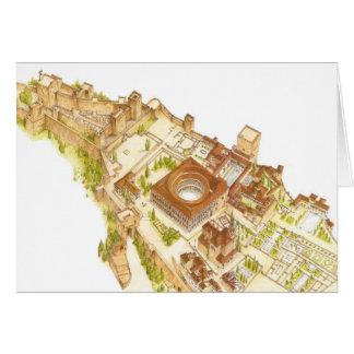 アルハンブラグラナダスペイン。 城および宮殿 カード