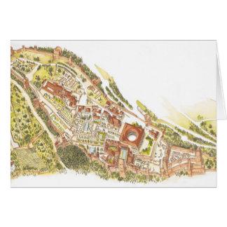 アルハンブラグラナダスペイン。 空中写真 カード