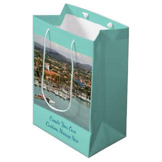 アルバのマリーナのカスタム ミディアムペーパーバッグ