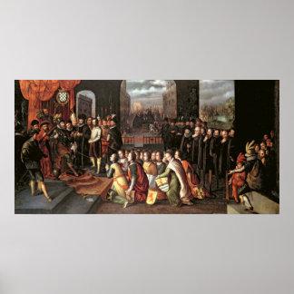 アルバの公爵の専制政治のアレゴリー ポスター