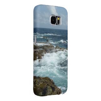 アルバの岩が多い海岸および青い海 SAMSUNG GALAXY S6 ケース