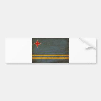 アルバの旗 バンパーステッカー