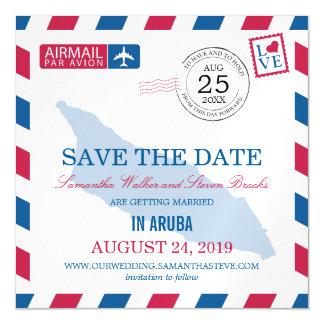 アルバの航空郵便の保存日付 マグネットカード