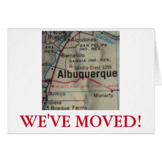 アルバカーキの引っ越しましたの住所発表 カード