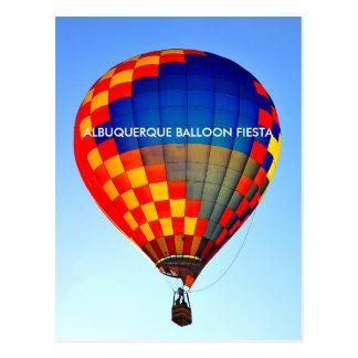 アルバカーキの気球のフェスタの郵便はがき ポストカード