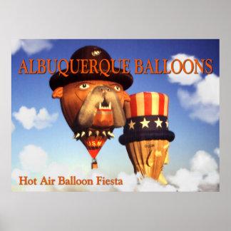 アルバカーキの気球-写真の芸術ポスター ポスター