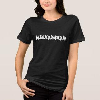 アルバカーキの落書きの刺激を受けたで写実的なティー Tシャツ