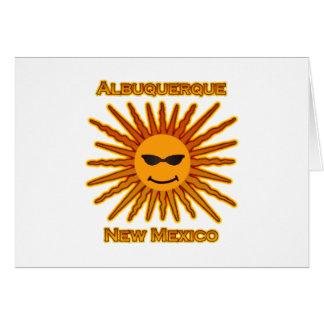 アルバカーキニューメキシコ米国日曜日のロゴ カード