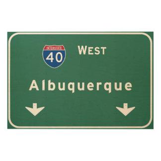 アルバカーキニューメキシコnmの州間幹線道路: ウッドウォールアート