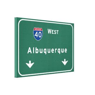 アルバカーキニューメキシコnmの州間幹線道路: キャンバスプリント