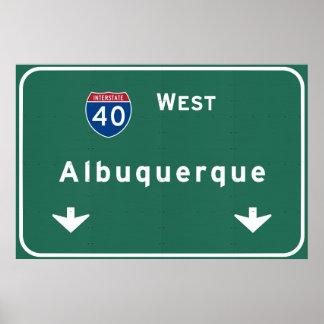 アルバカーキニューメキシコnmの州間幹線道路: ポスター