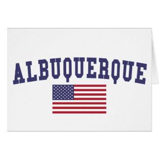 アルバカーキ米国の旗 カード