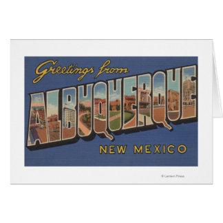 アルバカーキ、ニューメキシコ-大きい手紙場面 カード