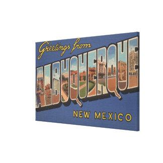 アルバカーキ、ニューメキシコ-大きい手紙場面 キャンバスプリント