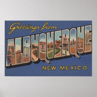 アルバカーキ、ニューメキシコ-大きい手紙場面 ポスター
