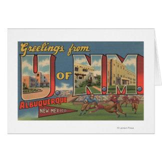 アルバカーキ、ニューメキシコ- NMの大学 カード