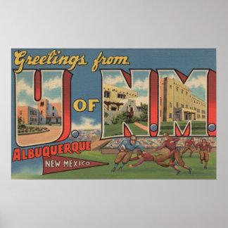 アルバカーキ、ニューメキシコ- NMの大学 ポスター
