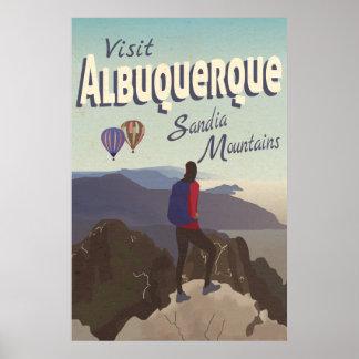 アルバカーキSandia山レトロ旅行ポスター ポスター