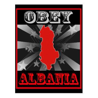 アルバニアに従って下さい ポストカード