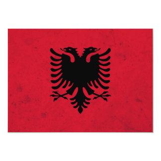 アルバニアのグランジな旗 カード