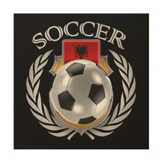 アルバニアのサッカー2016ファンのギア ウッドウォールアート