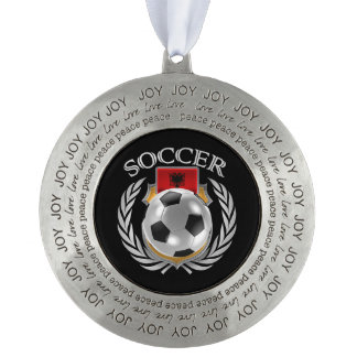 アルバニアのサッカー2016ファンのギア オーナメント