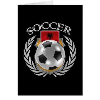 アルバニアのサッカー2016ファンのギア カード