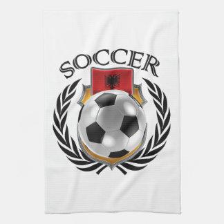アルバニアのサッカー2016ファンのギア キッチンタオル