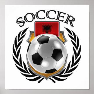 アルバニアのサッカー2016ファンのギア ポスター